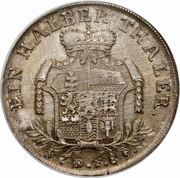 ½ Thaler - Wilhelm IX – revers