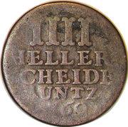 4 heller Friedrich II. – revers