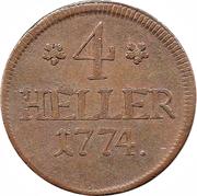 4 Heller - Friedrich II – revers