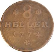 8 Heller - Friedrich II – revers
