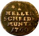 1 Heller - Wilhelm VIII – revers