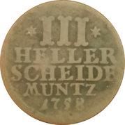 3 heller Wilhelm VIII – revers