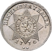 ½ thaler - Friedrich II (Halber Sterntaler) – revers