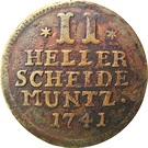 2 Heller - Friedrich I – revers