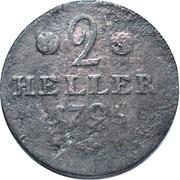 2 Heller - Wilhelm IX – revers