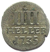 4 heller Friedrich I – revers