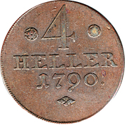 4 Heller - Wilhelm IX – revers