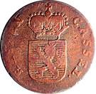 ½ kreuzer Friedrich II. – avers