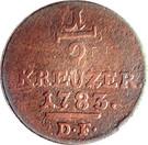 ½ kreuzer Friedrich II. – revers