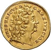 ½ Ducat - Friedrich I. (Edergold Halbdukat) – avers