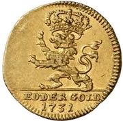 ½ Ducat - Friedrich I. (Edergold Halbdukat) – revers