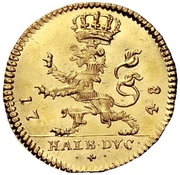 ½ Ducat - Friedrich I. – revers