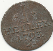 1 heller Wilhelm IX – revers