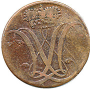 3 heller Wilhelm IX. -  avers