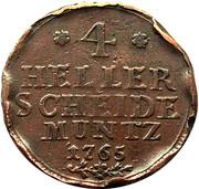 4 heller Friedrich II – revers