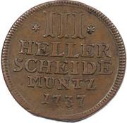 3 heller Friedrich I – revers