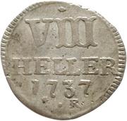 8 heller Friedrich I – revers