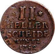 2 Heller - Wilhelm VIII – revers