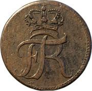 1-½ heller Friedrich I – avers