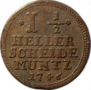 1-½ heller Friedrich I – revers