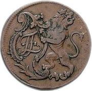 8 heller Friedrich II – avers