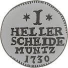 1 Heller - Friedrich I – revers
