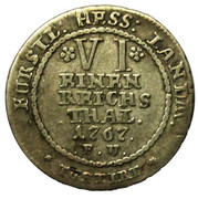 1/6 thaler Friedrich II – revers