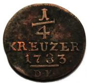 ¼ kreuzer Friedrich II – revers