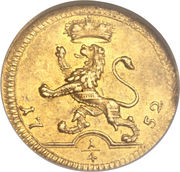 ¼ Ducat - Wilhelm VIII (Trade Coinage) – revers