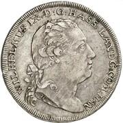 ½ thaler Wilhelm IX – avers