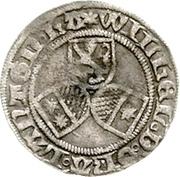 ½ Albus - Wilhelm II. (halber Petersgroschen) – avers