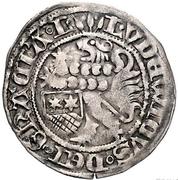 1 groschen Ludwig II – avers