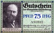 75 Pfennig (Heydekrug) – avers