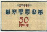 50 Pfennig (Hildburghausen,Eisfeld, Themar) – revers