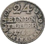 1/24 Thaler - Friedrich Wilhelm von Westfalen – revers
