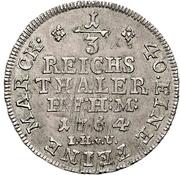 ⅓ Thaler - Friedrich Wilhelm von Westphalen – revers