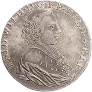 1 Thaler - Friedrich Wilhelm von Westfalen – avers