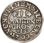 2 Mariengroschen - Jobst Edmund von Brabeck – revers