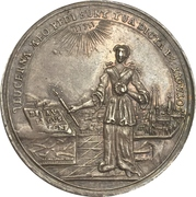 Medal - 200 year celebration of the reformation (Hildesheim) – avers