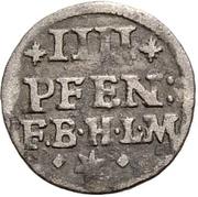 4 Pfennig - Jobst Edmund von Brabeck – revers