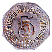 5 pfennig - Hildesheim – avers