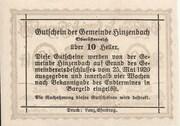 10 Heller (Hinzenbach) -  revers