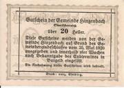 20 Heller (Hinzenbach) -  revers
