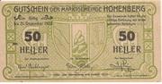 50 Heller (Hohenberg) -  avers