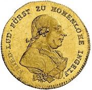 1 ducat Friedrich Ludwig – avers