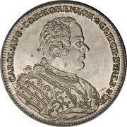 1 Thaler - Charles Augustus (Mort) – avers