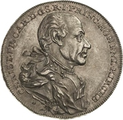 ½ Thaler - Christian Friedrich Karl – avers