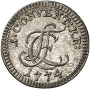2-½ Konventionskreuzer - Ludwig Friedrich Karl – avers