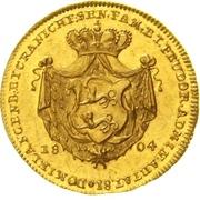 1 Ducat - Ludwig Friedrich Karl – revers