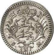 2-½ Konventionskreuzer - Ludwig Friedrich Karl – revers